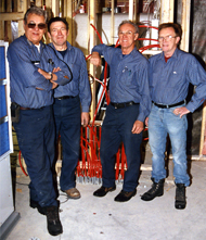 Four gentlemen from Rayco Refrigeration